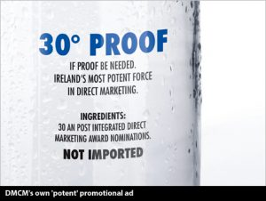 30 proof ad - DMCM's own 'potent' promotional ad.