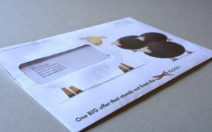 VW Bank– WHITE SHEEP OF CAR FINANCE, Direct Mail Campaign.
