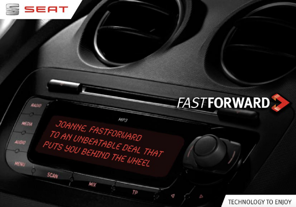 SEAT Fastforward – Direct Mail Campaign.