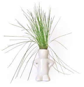 Grass Man on white.
