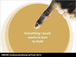 DMCM's Gold promotional ad from 2012